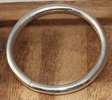 Conciliador redonda brazalete real plata 925 Sterling plata 15 G
