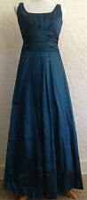 David's Bridal Gown Sleeveless Teal Size 8
