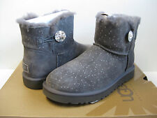 Ugg Mini Bailey Button Bling Constellation Grey Women US10/UK8.5/EU41
