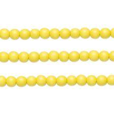 Wood Round Beads Yellow 8mm 16 Inch Strand