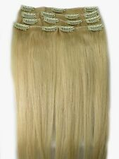 """New Womens AAA+ 12""""~22"""" Remy Human Hair Extensions Clip In Straight Hair 70-75g"""