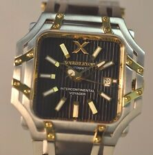 New Mens Xoskeleton Intercontinental Voyager Automatic Rare Black Dial Watch