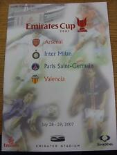 28/07/2007 At Arsenal: Inter Milan v Valencia & Arsenal v Paris St Germain & 29/