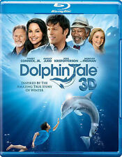 Dolphin Tale BLU RAY 3D + BLU RAY NEW! MORGAN FREEMAN, ASHLEY JUDD, FAMILY MOVIE