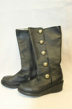 Michael Kors Girls Black Boots Size 13 Excellent Used Condition Youth Miss Dita