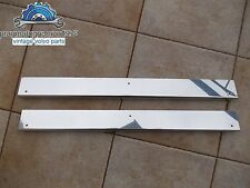 VOLVO P 1800 DOOR SILL PLATES STAINLESS STEEL MIRROR FINISH 3 HOLE PATTERN