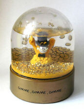 "Vintage Garfield ""Gimme Gimme Gimme"" Piggy Bank Snow Globe Collectible #97"