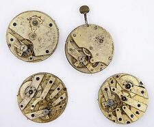 SWISS LEVER POCKET WATCH MOVEMENTS X 4 SPARES OR REPAIRS R197