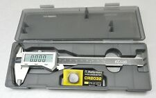 "6"" DIGITAL ELECTRONIC CALIPER FRACTIONAL 3 Way LCD STAINLESS EZ Cal by  i GAGING"