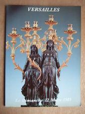 CATALOGUE VENTE ENCHERES 1989 VERSAILLES TABLEAUX & MEUBLES ANCIENS OBJETS D'ART