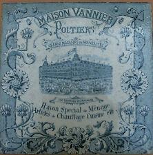 ancien carreau publicitaire grands magasins maison VANNIER Poitiers LONGWY 1900