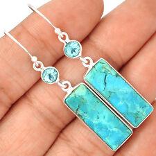 Sleeping Beauty Turquoise 925 Sterling Silver Earrings Jewelry SE133510