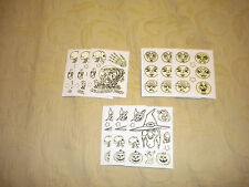 HALLOWEEN LOT OF 9 SHEETS OF GLOW IN THE DARK STICKERS