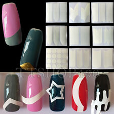 24 Style/Set Chic DIY French Manicure Nail Art Tips Tape Sticker Guide Stencil