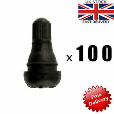 100 x TR412 SNAP IN TUBELESS TYRE VALVE CARS MOTORBIKES QUADS BICYCLE BIKE BULK