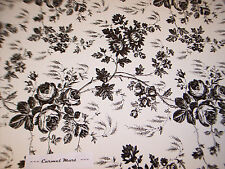 Contact Paper Toile Rose Quick Cover Black White Floral Shelf Liner 4.5 Ft Roll