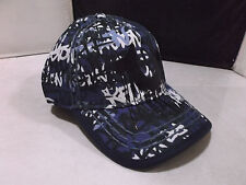 AUTHENTIC TRUE RELIGION TR1989  BASEBALL HAT CAP LEATHER BACK STRAP  NAVY