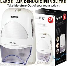AIR DEHUMIDIFIER 2000ML 2L LITRE PORTABLE DRY BATHROOM ROOM MOULD RISING LARGE