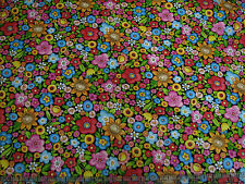 1 Yard Cotton Fabric - Quilting Treasures Mary Engelbreit Mottos to Live Floral