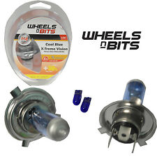 Blue 12V H4 55 Watt +50%=100W Xenon Gas HID Halogen Bulb Hi or Low Beam Main Dip
