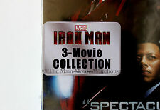 Marvel Iron Man Trilogy 1 2 & 3 DVD Movie Collection English French and Spanish