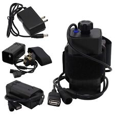 DC&USB Plug 8.4V 18650 Battery Pack Box for Bicycle Light Headlight Cellphone