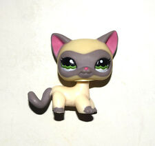 Littlest Pet Shop Animal Cream Grey Short Hair Cat Kitty Doll Figure Child Toy