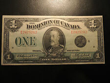 1923 DOMINION OF CANADA ONE DOLLAR $1 DC-25o E 2425212 CAMPBELL CLARK BLACK SEAL