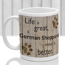 German Shepherd dog mug, GSD gift, ideal present for dog lover