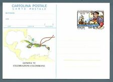 ITALIA REP. - Cart. post. - 1992 - GENOVA '92 - II° Viaggio