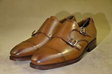 MEERMIN Mallorca Classic collection:goodyear welted cap toe double monk  7'5UK