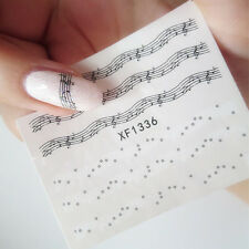 Nail Art Water Transfers Decals Stickers Decorations Artistic Music Note