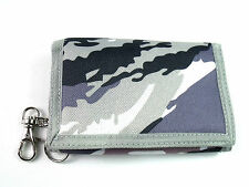 Mens Boys Camouflage Canvas Chain Wallet Coin Pouch Credit Card Holder