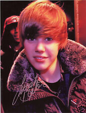 JUSTIN BIEBER AUTOGRAPH SIGNED PP PHOTO POSTER