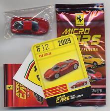 Micro Cars 2015 FERRARI 458 Italia #12 card+sticker+bag+bpz 1/100 Kyosho MIB
