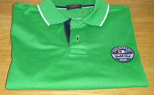NUOVO Paul & Shark CASUAL POLO SHIRT VERDE Taglia LARGE SHARK FIT supeb Colore WOW!!!