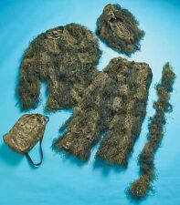 5-Pc Woodland Ghillie Suit Camo Camouflage Cover Hunting Noise Free Youth Medium