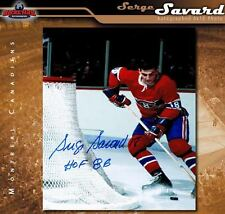 SERGE SAVARD Signed & Inscribed Montreal Canadiens 8 x 10 Photo - 70251