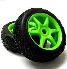 81291 1/8 Escala Off-road RC R/C Buggy ruedas y neumáticos 2 Verdes 6 Radios