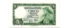 SPAIN   P-146     5 PESETAS    (1954)     *UNC*