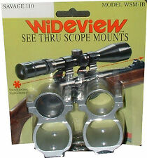 WIDEVIEW SEE-THRU SCOPE MOUNT WINCHESTER 88 100  BLACK MOUNT