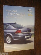 Opel Astra sedan folleto/depliant/brochure, Polonia