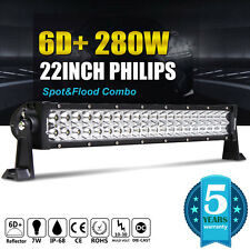 6D+ 22INCH 280W LED Work Light Bar Spot Flood 4WD Boat Driving Truck Offroad