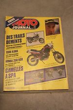 MOTO JOURNAL N°757 KAWASAKI Z1300, HONDA NSR 250 FANTIC 50 TRIAL VIMOND SPA 1986