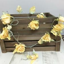 New VINTAGE YELLOW ROSE GARLAND Rustic Artificial Flowers Home Wedding Venue
