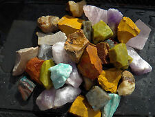 2 lb MIXED STONES Rocks METAPHYSICAL Reiki WICCA Healing Crystal FS