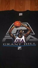 2XL to 3XL Vintage FILA Basketball GRANT HILL T-Shirt XXL NBA XXXL