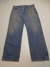 Wrangler Mens Size 36X29 Classic Fit Distressed Blue Work Jeans Good Condition