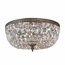 Crystorama 712-EB-CL-I 3 Light Flush Mount Ceiling Fixture w/ Crystal shade