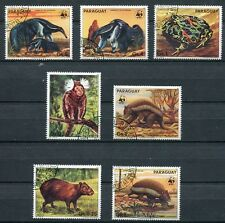 PARAGUAY 1985 ENDANGERED ANIMALS - WWF - COMPLETE SET OF 7 STAMPS - $10.00 VALUE